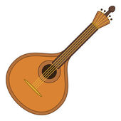 Musical instrument mandolin — Stock Vector