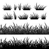Grass silhouette, seamless — Stock Vector