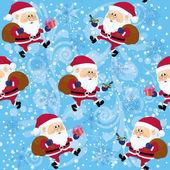Santa Claus, seamless — Stock Vector