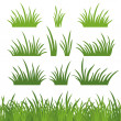 Green grass, seamless and set — Stock Photo