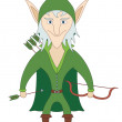 Elf archer — Stock Photo