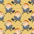 Businessman, seamless pattern — Stock Photo