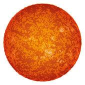 Sun, isolated on white — Stock Vector