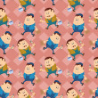 Worker, seamless pattern — Stock Photo