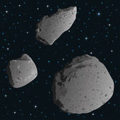 Asteroids in space — Stock Photo