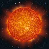 Uzayda güneş — Stok Vektör