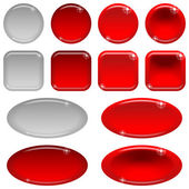 Glass buttons, set — Stock Vector