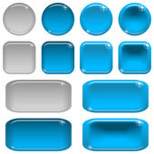 Glass buttons, set — Stock Vector