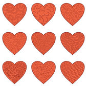 Set Valentine hearts — Stock Vector