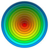 Round multicolored button — Stok fotoğraf