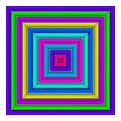 Square multicolored button — Photo