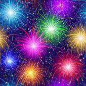 Fireworks, seamless — Stock Photo