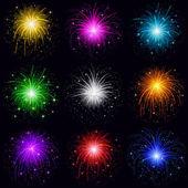 Fireworks, set — Stock Photo