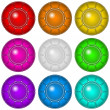 Glass buttons with frames, set — Stock Photo #40062175