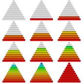 Progress bars, set, pyramids — Stok fotoğraf