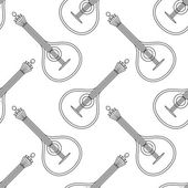 Mandolin, seamless, contour — Stock Vector
