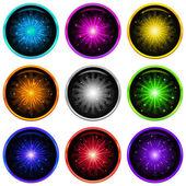 Firework, set buttons — Stock Photo