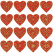 Valentine heart with patterns, set — Stock Photo