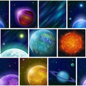Fantastic space background, seamless — Stock Photo