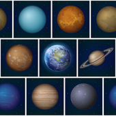 Solar system planets seamless — Stock Photo