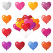 Festive heart shaped balloons, set — Stock Photo #48929917