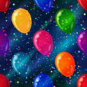 Balloon seamless background in space — Stock Photo