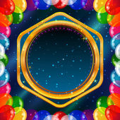 Holiday background with balloons frame — 图库矢量图片