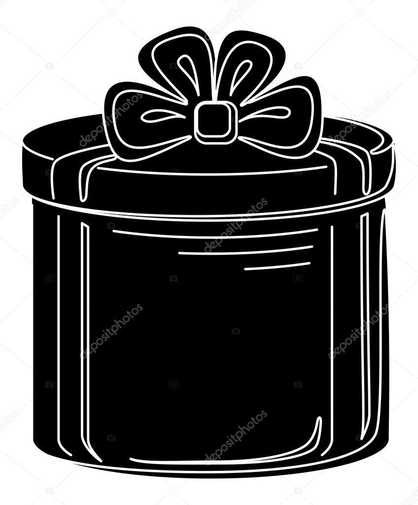 Gift Box Vector Silhou...