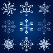 Snowflakes, set — Stockvector