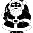 Santa Claus with bag of gifts, silhouette — Stock Photo #12818730