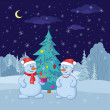 Snowballs and Christmas tree — Stock Photo #12865017