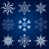 Snowflakes, set — Stock Photo