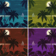 Tropical ocean landscape with palm trees — Stock Photo