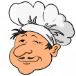 Cooks head in a cap — Stock Photo