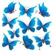 Set mariposas — Foto de Stock