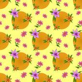 Flower background, seamless — Stock Photo