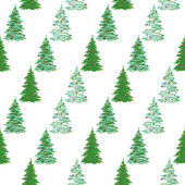 Seamless background, Christmas trees — Stock Vector