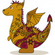 Stock Photo: Cartoon Dragon