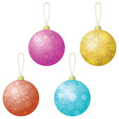 Christmas decoration, set balls — Stock Vector