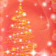 Christmas background with fir tree - ストック写真