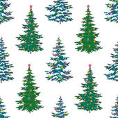 Seamless background, Christmas trees — Stock Photo