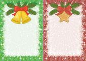 рождественские фоны с звездой и колоколов — Cтоковый вектор
