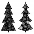 Christmas trees, silhouette — Stock Photo