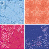 Set abstract floral backgrounds — Stock Photo
