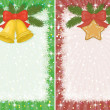 Christmas backgrounds with star and bells — Stock Photo