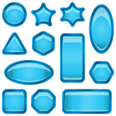 Set blue buttons — Stock Vector