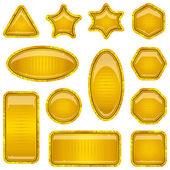 Set gold buttons — Stock Vector