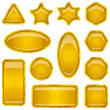 Stock Photo: Set gold buttons