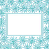 Background, frame and flowers — Stock Photo