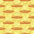 Stock Photo: Seamless background, hot pizza